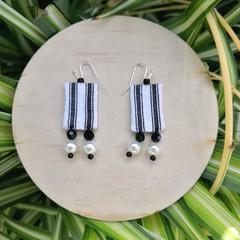 Monochrome Fabric Earrings