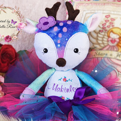 Personalised Jointed Fawn Plushie