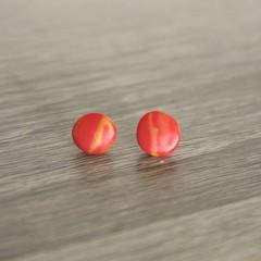 Circle red and yellow marbled studs (Medium - B)