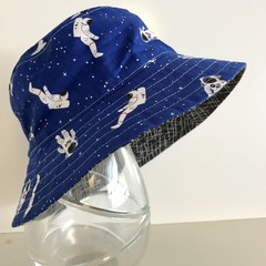 Boys summer hat in space walk fabric