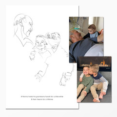 Family Portrait - line drawing | Digital Download