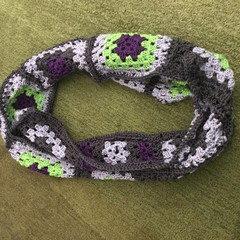 Ladies cowl scarf hand crocheted