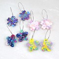Spring Flowers Collection - hot pink, purple and blue mix