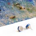"Wooden earrings ""FIRE"" - handmade from multicoloured pencil - beautiful pattern"