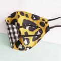 Fabric face mask - reversible Leopard print