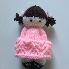 Rosie - Hand Knitted Doll