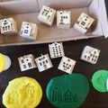 Timber Playdough Stamp Set Village Green