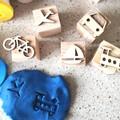 Timber Playdough Stamp Set Transport
