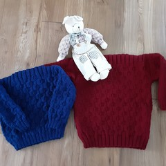 Hand knitted jumpers