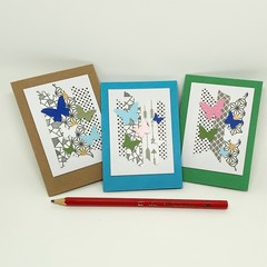 Gift Card Set - Washi Tape and Butterflies