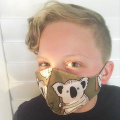 Cotton Face Mask ~  Koala ~ 3 layers