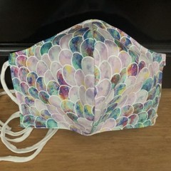 3 Layered Waterproof lined Mask - Mermaid Scales (ready to ship)