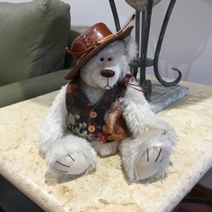 Off white German Mohair Teddy Bear
