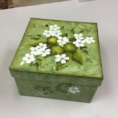 Hand painted paper mâché Knick knack box