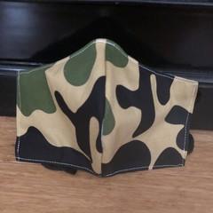 3 Layered Waterproof lined Mask - Camo (ready to ship)