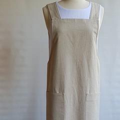Cross Back Cotton Linen Apron