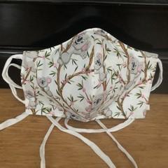 3 Layered Waterproof lined Mask - Koala (ready to ship)