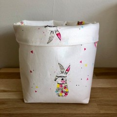 Small fabric planter | Storage basket | Pot cover | BUNNIES
