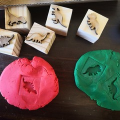 Timber Playdough Stamp Set Dinosaurs