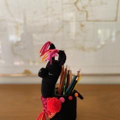 Llama Jar Cosy Llama Pencil Holder Cosy Llama Organiser