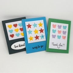 Gift Card Set - Punched Shapes