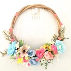 Bamboo Floral Decorated Hoop
