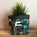 Small fabric planter | Storage basket | Pot cover | OLIVE KOOKABURRA