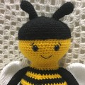 Bee: READY TO POST, Crochet Toy,  Boy Gift, Girl Gift