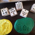 Timber Playdough Stamp Set Village Green