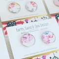 Miss Bloom.   Faux Leather - Stainless Steel 16mm Studs