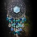 Blue Onyx Star Suncatcher