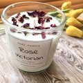 Pure Soy Candle - Rose with organic rose petals | Home Fragrance