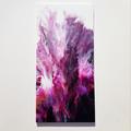 """Purple Rain"" Triptych Trio Set 30.5 x 61cm each (12x24"") Wall Art"