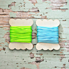- LIME - Silky Cord {5m} Bright Twine Wood Spool | Gift Wrap under 5