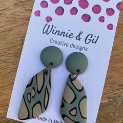 Jungle earrings asymmetrical