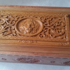 Carved Wooden Keepsake Box/ Wedding Card Box/ Anniversary Gift