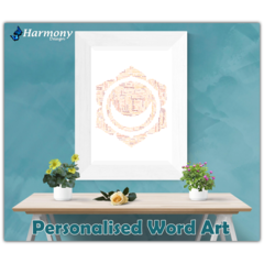 Personalised Word Art ~ 'Sacral Chakra' ~ Unique Gift ~ Customisable ~ HDA00002