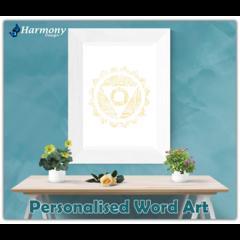 Personalised Word Art ~ Solar Plexus Chakra ~ Unique Gift ~Customisable~HDA00003