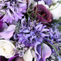 Rustic Silk Bridesmaids Bouquet Peony Lavender Rosebuds with Buttonhole Wedding