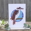 Large Watercolour Greeting Card - Birds of Australia FREE SHIPPING