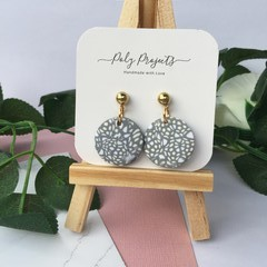 GREY SPECKLED SIMPLE DANGLE