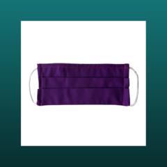 Purple handmade reusable face mask