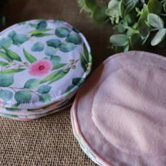 Reusable Breast pads-  Eucalyptus Floral