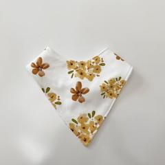 Autumn floral  bandana bib
