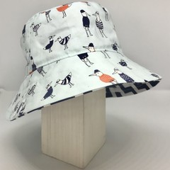 Boys summer hat in funny seagull fabric