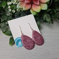 Sundown Dusk Pink - Glittering - Drop Resin - Stud Dangle earrings