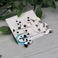Ink Spill Squiggles Spot - Drop Resin - Stud Dangle earrings