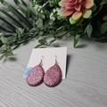Sundown Dusk Pink - Glittering - Drop Resin - Stud Dangle earrings