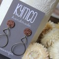 Dots and Dangles - Copper glitter dot with various dangles