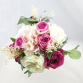 Burgundy, Pink, Ivory Rose Bridesmaid Bouquet -  Artificial Wedding Flowers